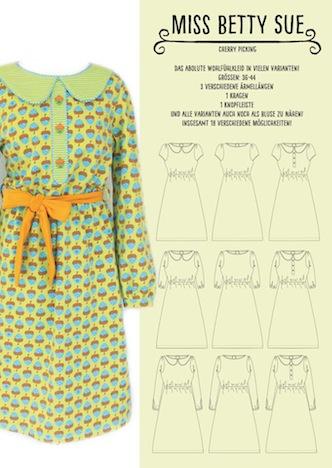 Cherry Picking Miss Betty Sue Schnittmuster + Beispiel Kleid 1