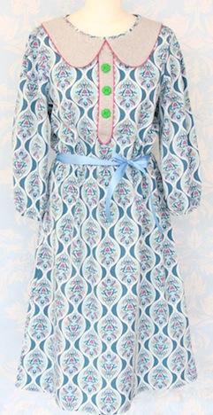 Cherry Picking Miss Betty Sue Schnittmuster + Beispiel Kleid Bubikragen Knopfleiste 1