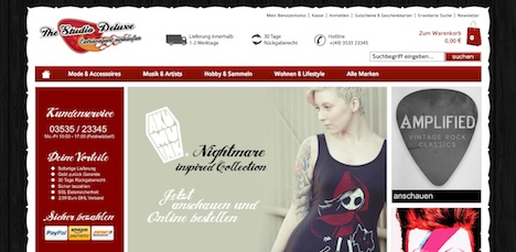 The Studio Deluxe Onlineshop Webshop
