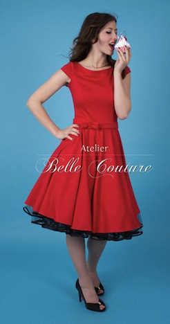Atelier Belle Couture Petticoatkleid rot Klara