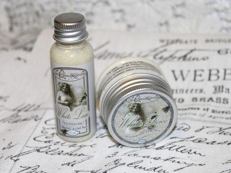 Das Frauenzimmerchen Geschenkset White Lace Duschcreme Koerpersahne