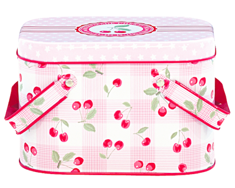 Nostalgie im Kinderzimmer GreenGate Picknickdose Cherry