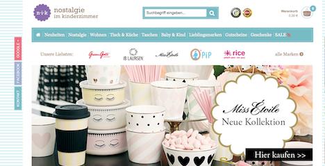 Onlineshop Webshop www.nostalgieimkinderzimmer.de
