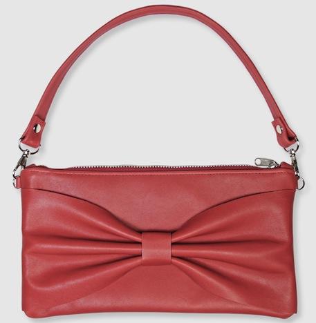 lille mus Schleifen Clutch Tasche Sophia – Rot aus Leder DaWanda