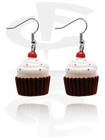 Crazy Factory Cupcakes REEA042_L-Modeschmuck-Ohrringe-Acryl
