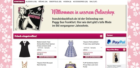 Fraeulein Backfisch Onlineshop Webshop fraeuleinbackfisch.de
