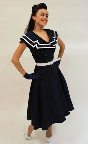 Fraeulein BackfischTatyana  Kleid Dress captain-circle-navy-66-1333x2000