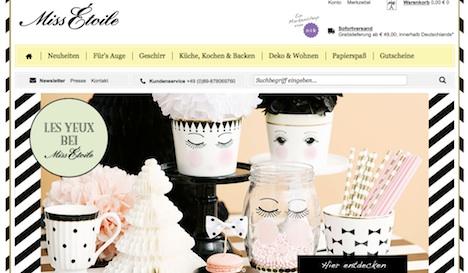 Miss Étoile Onlineshop Webshop 1
