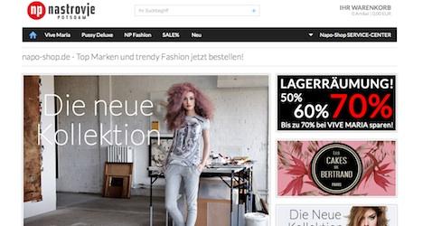 Napo Shop Onlineshop Webshop Nastrovje Potsdam