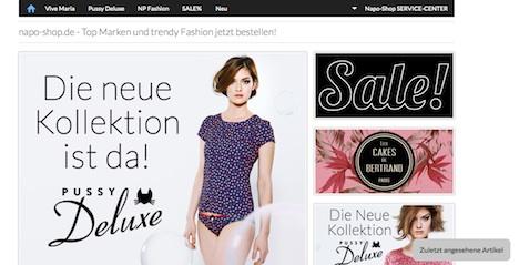 Napo Shop Webshop Onlineshop Nastrovje Potsdam