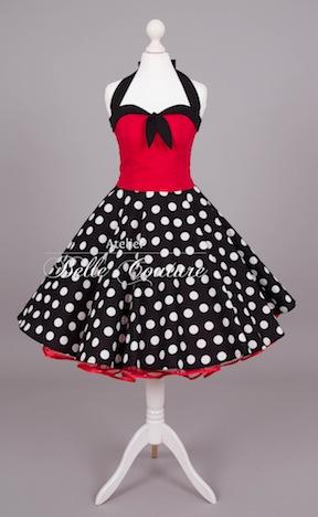 Atelier Belle Coture 50er Jahre Rockabilly Petticoatkleid  Polka Dots Petticoat 081
