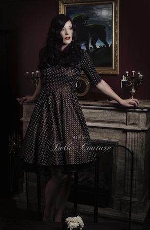 Atelier Belle Couture Jerseykleid mit Glanzeffekt _dsc4422b