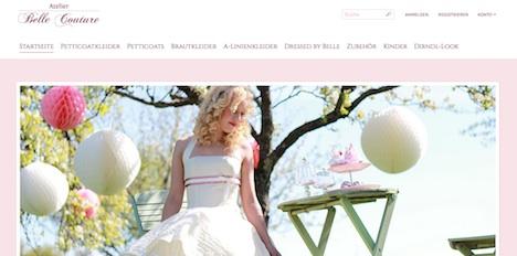 Atelier Belle Couture Onlineshop Webshop