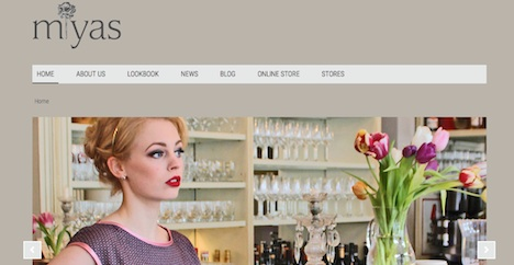 Miyas Homepage Webshop Onlineshop