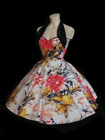elaZara Petticoatkleid Blumen Flowers DaWanda-Shop