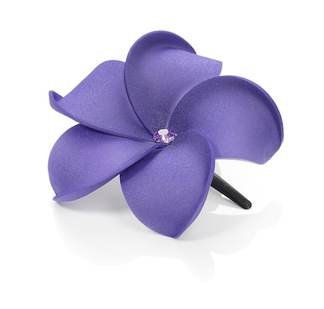 Dolly Martin Haarschmuck Haarbluete frangipani_hairclip_diamond_xs_purple_diamond.xs-00.00.16