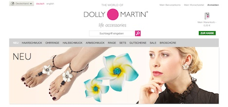 Dolly Martin Onlineshop Webshop Homepage
