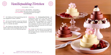 Dr.Oetker Toertchen Deko-Set Doppelseite Rezeptbuch 12+13