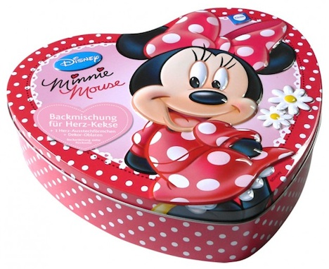 Kuechle  Minnie Mouse Herzdose Backmischung Kekse