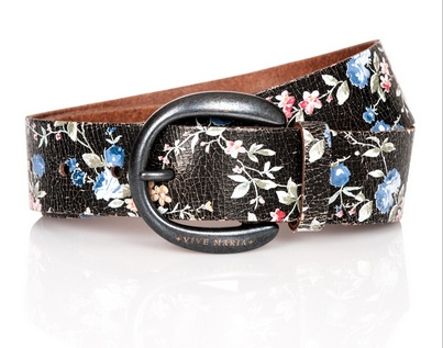 Vive Maria Gurtel Belt Dark Flowers