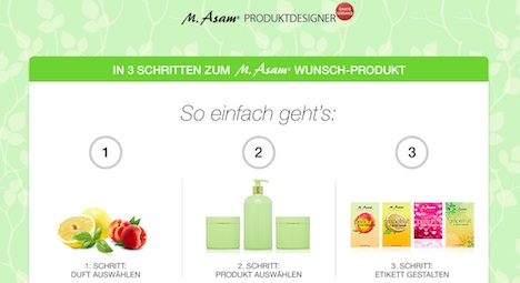 M.Asam Asam Beauty Produktdesigner Homepage Onlineshop Screenshot