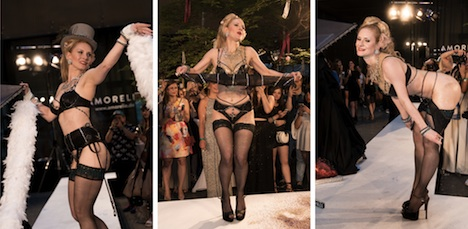 Berlin Fashion Week Amorelie Party Magic Moments Burlesque Show Marlene von Steenvag 1 Collage