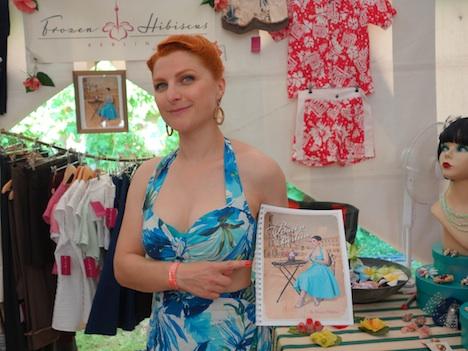 Frozen Hibiscus im Fashionzelt Firebirds Festival Juli 2015 2