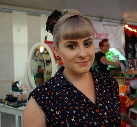 Miss Mint im Fashionzelt beim Firebirds Festivals Juli 2015 3