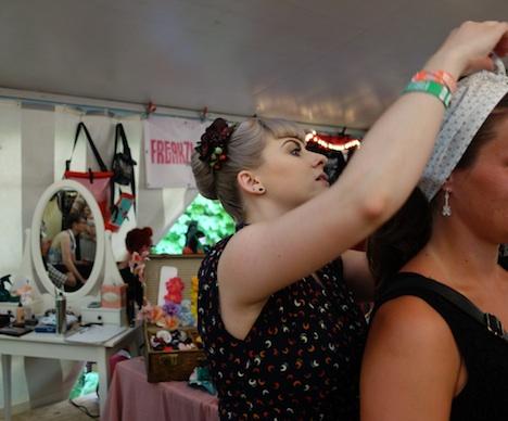 Miss Mint im Fashionzelt beim Firebirds Festivals Juli 2015 4