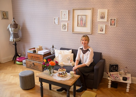 Vive Maria Designerin Simone Franze in ihrem Atelier in Berlin 2015 Foto Stephanie Grimm