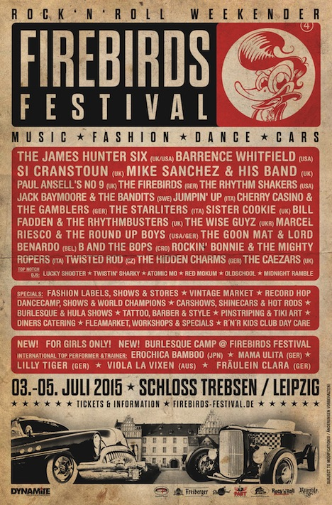 Firebirds Festival Flyer Sommer 2015