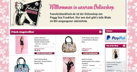 Fraeulein Backfisch Onlineshop Webshop Homepage
