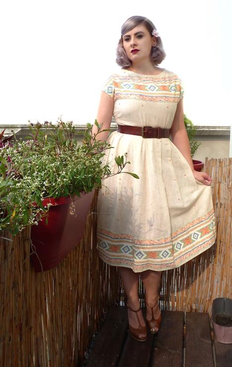 Judy, Kleid Vintage, Gürtel H&M, Schuhe Mai Piu Senza