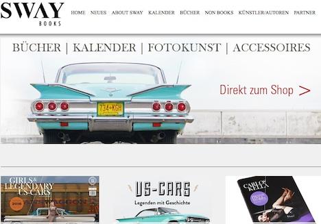 SWAY Books Homepage Onlineshop Carlos Kella