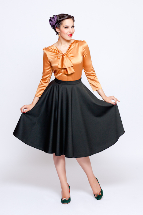 Frozen Hibiscus Fabulous Forties Herbst Winter 2015 2016 Martha Outfit front