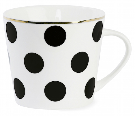 NiK Nostalgie im Kinderzimmer Miss Étoile Kaffeetasse Grosse Punkte CM073