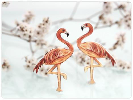 fraufischers  Spilweise Flamingo Brosche Schmuck