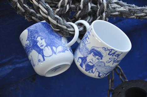 Ahoi Marie  LONA & PIET Becher Maritime Becher Kaffeebecher 1306742684-932