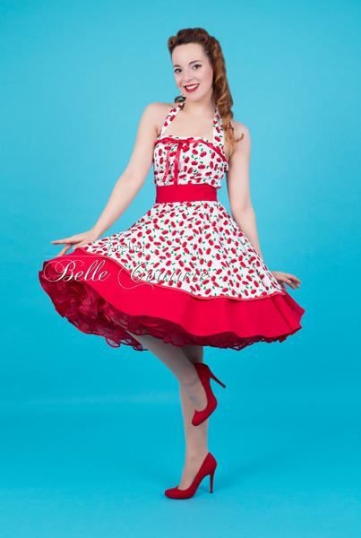Atelier Belle Couture Petticoatkleid Rockabillykleid Sweet Cherry