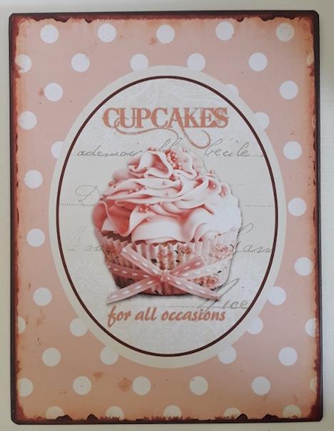 Kleines Schwedenhaus Memoboard Magnettafel Cupcakes nostalgisch