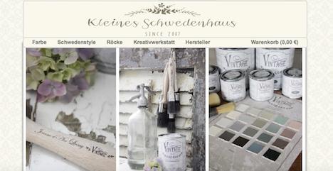 Kleines Schwedenhaus Onlineshop Webshop 1