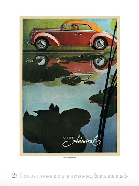 Oldtimer Plakate Kalender 2015 Korsch Verlag Februar