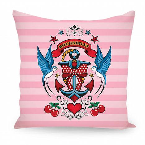artboxONE Amely Sharon Maacken Rockabilly Style pink Kissen AMA35_k