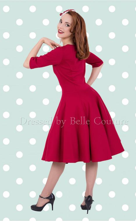 Atelier Belle Couture Kleid Audrey Punkte mint (2)