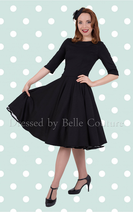 Atelier Belle Couture Kleid Audrey Punkterv mint