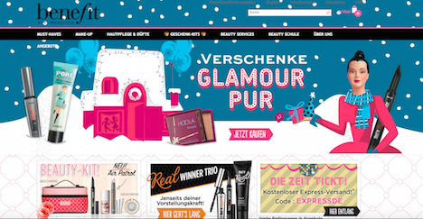 Benefit Cosketics Homepage Onlineshop Deutschland