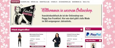 Fraeulein Backfisch Onlineshop Webshop
