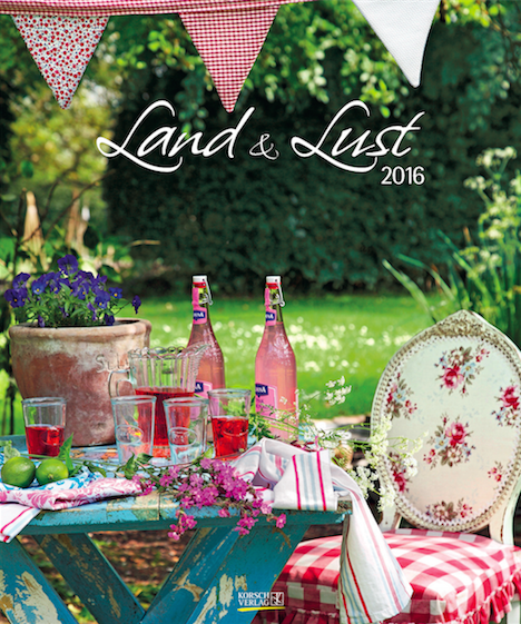 Land & Lust Kalender 2016 Korsch Verlag Cover