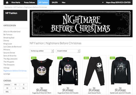 Napo Shop NP Fashion Nastrovje Potsdam Nightmare before Christmas
