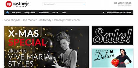 Napo Shop Nastrovje Potsdam Onlineshop Webshop Pussy Deluxe